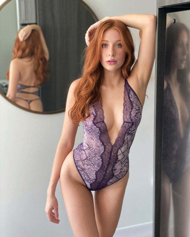 Madeline Ford, a Redhair Beauty with Freckles