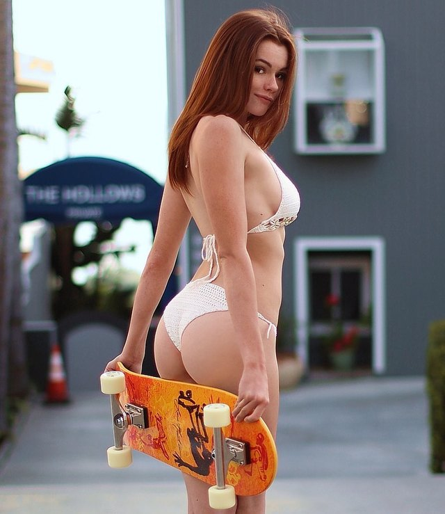 Sabrina Lynn, Cute and Sexy Red-Haired  American Model