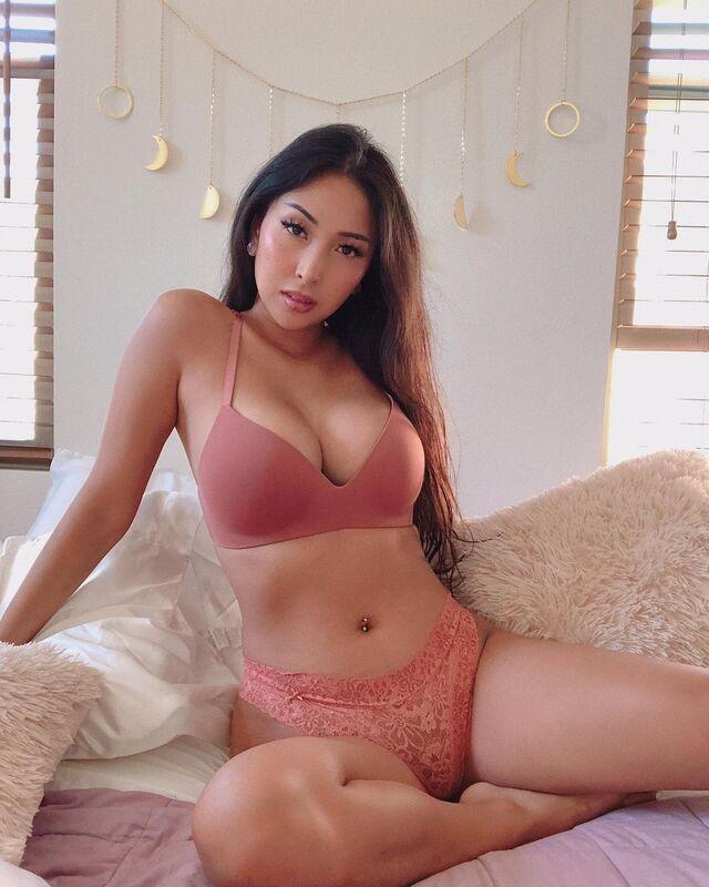 Danica Belle, an Asian Model with Beautiful Curvy Body