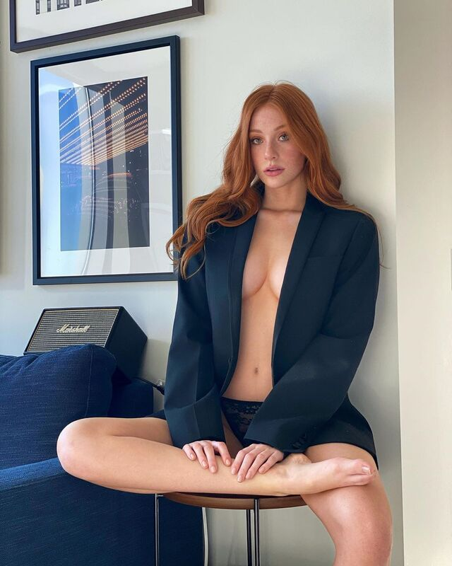 Madeline Ford, Redhair Beauty with Freckles